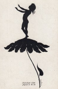 DIEFENBACH : Fantasy Silhouette , 00-10s ; Jugend II. BL. 36 ; White paper