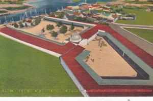 Florida Tarpon Springs Birds Eye View Of Sponge Exchange Waterfront & Anclote...
