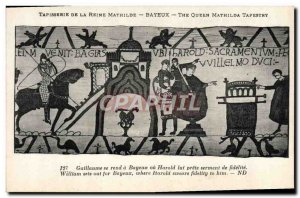 Old Postcard Mathilde Bayeux Tapestry of Queen William went to Bayeux or read...