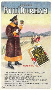 Bull Durham Tobacco Advertising Set Russia B-5 Postcard