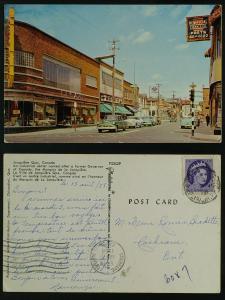 Jonquiere Quebec centre ville vintage automobiles  pmkd 1958