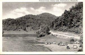 Kentucky Prestonsburg Dewey Lake Pictorial Scene Curteich
