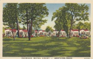GRANTS PASS , Oregon , 1930-40s ; Redwood Motel Court