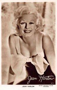 Jean Harlow Metro Goldwyn Mayer Pictures Signed Film Star Postcard