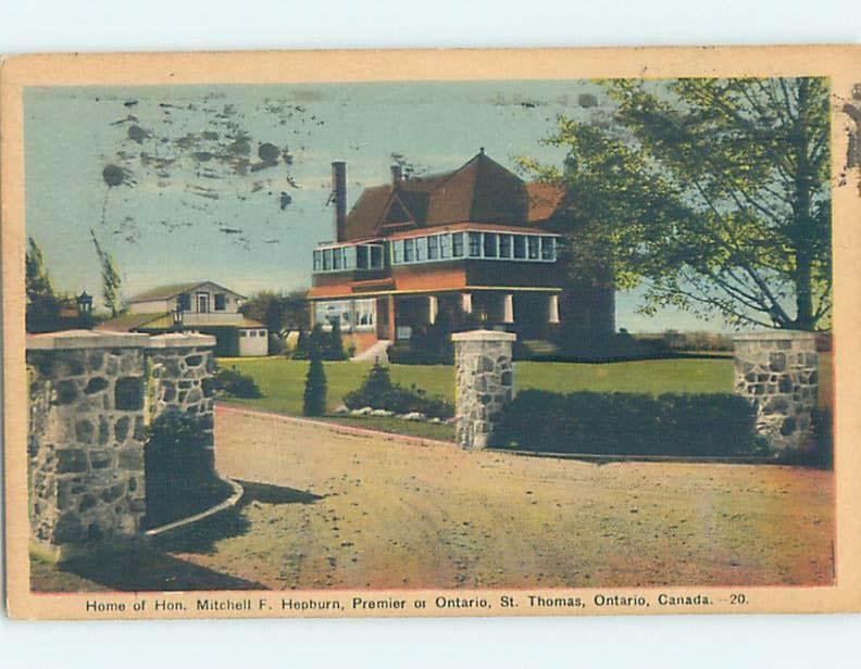 1930's HISTORIC HOME St. Thomas Ontario ON W4522