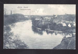 HALLE SAALE SAALEPANARAMA GERMANY ANTIQUE VINTAGE POSTCARD
