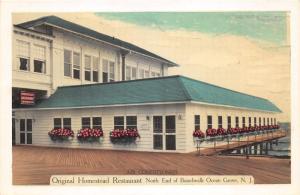 Ocean Grove New Jersey~Original Homestead Restaurant~End of Boardwalk~1950s PC