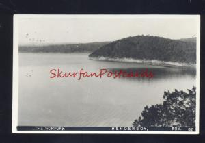 RPPC HENDERSON ARKANSAS LAKE NORFORK PALMYRA MISSOURI RELA PHOTO POSTCARD