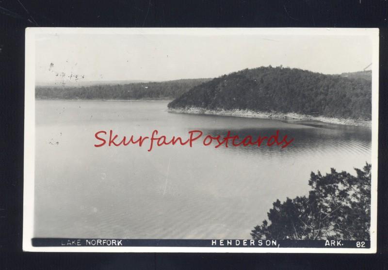 RPPC HENDERSON ARKANSAS LAKE NORFORK PALMYRA MISSOURI RELA PHOTO POSTCARD