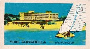 Hungary Balatonfured Hotel Annabella Vintage Luggage Label lbl0003