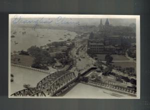 1947 Mint China Real picture BW Postcard Bridge in Shanghai