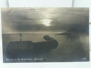 Vintage Antique Postcard Evening at the Breakwater Arbroath Posted 1915