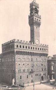 Italy Old Vintage Antique Post Card Palazzo della Signoria Firenze, Real Phot...