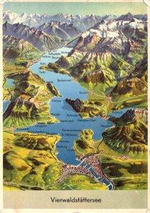 Switzerland Lucerne Vierwaldstaettersee Totalansicht