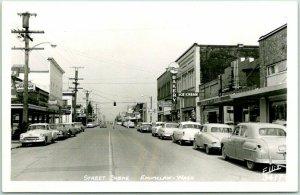 ENUMCLAW, Washington RPPC Real Photo Postcard STREET SCENE Ellis #3417 Unused
