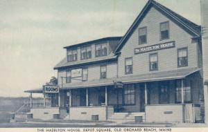 OLD ORCHARD BEACH , Maine , 1930s ; Hazelton House , Depot Square