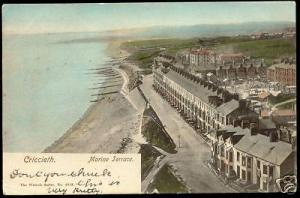 wales, CRICCIETH, Marine Terrace (1904) Wrench Series