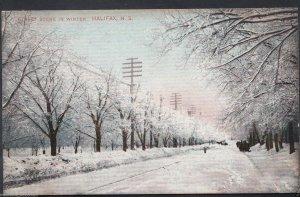 Canada Postcard - Street Scene in Winter, Halifax, Nova Scotia  U1191