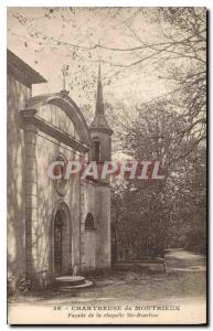 Old Postcard Chartreuse Montrieux Facade of the chapel Ste Roseline