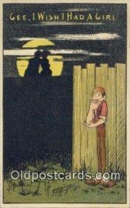 Artist Carmichael Silhouette 1910 postal used 1910