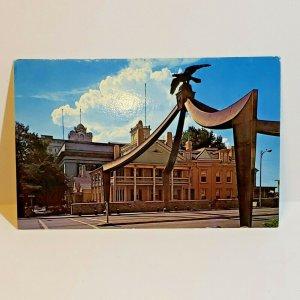 Vintage Postcard Eagle Gate Salt Lake City Utah Brigham Young Private Estate 754