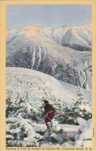 Running A Trail On Summit Of Cannon Mount Franconia Notch 1940