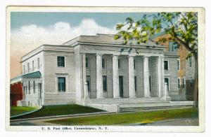 U.S. Post Office, Canandaigua New York un-mailed Postcard