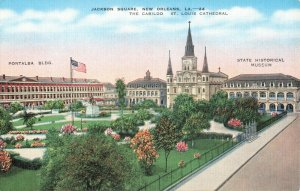 Postcard Jackson Square New Orleans Louisiana