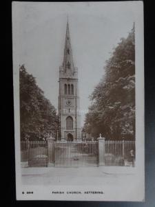 Kettering Parish Church c1916 RP - Pub by Kingsway