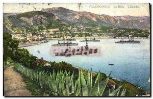 Old Postcard Villefranche La Rade L Escarde