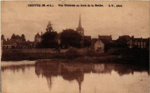 CPA CHEFFES vue generale au bord de la Sarthe (606659)