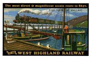 West Highland Railway,Fish Train at Mallaig UK