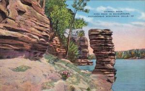 Wisconsin Milwaukee Chimney Rock High Rock In Background Picturesque Wisconsi...