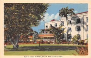 E58/ Foreign Postcard Carribean Bridgetown Barbados Marine Hotel BWI 2