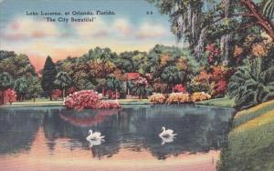 Florida Orlando Lake Lucerne At Orlando The City Beautiful 1964
