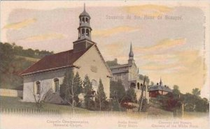 Canada Quebec Ste Anne de Beaupre Memorial Chapel &  Convent of the Wh...