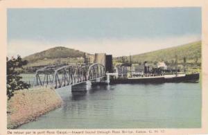 Passing through Ross Lift Bridge - Gaspe QC, Quebec, Canada