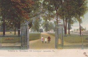 LANCASTER , Pennsylvania ,1908; Entrance to Woodward Hill Cemetery