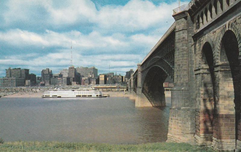 St Louis Missouri across Mississippi River at Eads Bridge