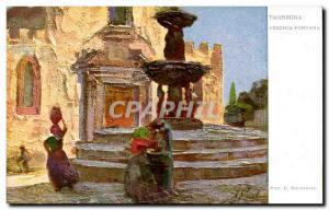 Italia - Italy - Italy - Taormina - Fontana Vecchia - Old Postcard