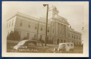 Heflin Alabama al Clayburne County Court House Real Photo Postcard RPPC