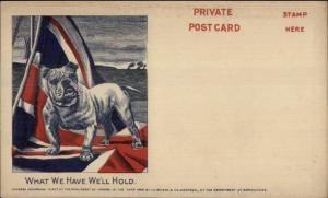 Canada Patriotic Private Postcard Bulldog & Canadian Flag c1905 Postcard jrf