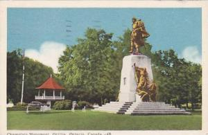 Champlain Monument, Orillia, Ontario, Canada,PU-1955