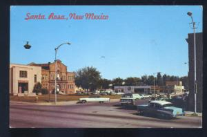 SANTA ROSA NEW MEXICO DOWNTOWN STREET SCENE 1957 CHEVY OLC CARS POSTCARD