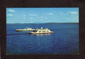 NY Lake Champlain Port Kent New York Ferry Boat Burlington Vermont MV Valcour