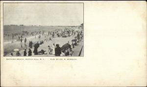 Watch Hill RI Bathing Beach c1900 Private Mailing Card