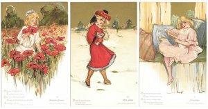Six Postcard & Envelope Complete Set Childhood Days by Samuel L Schmucker~105060