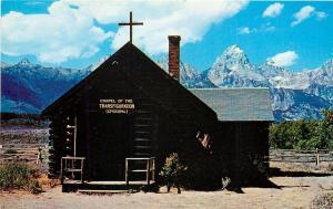 Moose Wyoming~Chapel Of The Transfiguration~Grand Tetons~1950's Postcard