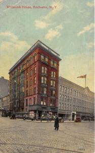 Rochester New York~Whitcomb House~Policeman in Street~c1910 Postcard