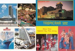 Atlantic City Tropicana Casino Hotel Trump Plaza Casino Showboat 4x Postcard s